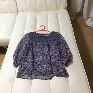 Purple Floral Blouse